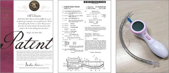 TLFカフ圧計米国特許証